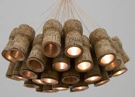 recycled lighting. recycled lighting celebration chandelier made using champagne corks_1 y