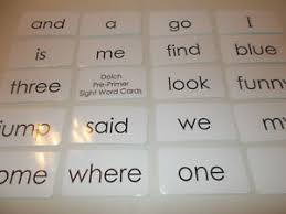 Details About Dolch Pre Primer Sight Word Flash Cards Preschool And Prek Educational Phonics