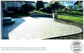 installing brick pavers over concrete put over concrete patio over concrete driveway putting down in how