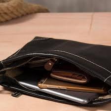 Cool Leather Mens Clutch Wristlet Bag <b>Black</b> Zipper Clutch Wallet ...