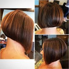 simple stacked bob hairstyle