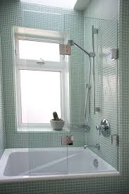 best frameless tub shower with glass doors having grey ceramic wall as within glass door for bathtub remodel