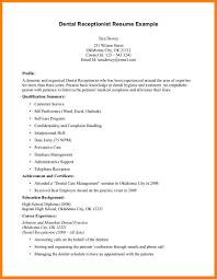 Orthodontist Resume Examples Address Example Receptionist Templates