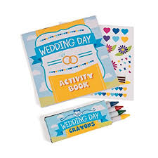 fun express wedding day kids activity books with stickers and crayons one dozen