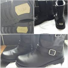 ugg boots harwell black leather ugg boots size 5