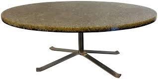 Table De Salon Ovale En Verre R Sine Et Acier Pierre Giraudon