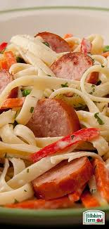 shake up your next pasta night by adding some hillshire farm smoked sausage into the mix smoked sausage alfredo with vegetables is super easy to make and