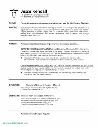 Cna Resume Examples Inspirational Cna Resume Samples Resume Sample
