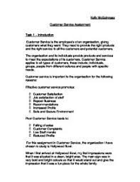 customer service assignment gcse business studies marked by page 1 zoom in