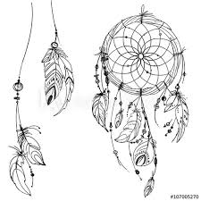 Native Dream Catchers Drawings Awesome Dreamcatcher Set Of Ornaments Feathers And Beads Native American