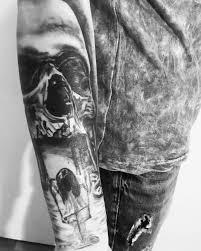 Tatto Black Work украина николаев череп тату Hromovtatto