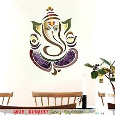 ganesha wall decor elephant wall sticker totem home decal wall decor for living room bedroom room ganesha home decor wall