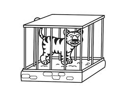 zoo cage coloring page. Beautiful Coloring Zoo Animals In Cages Coloring Pages And Cage Page