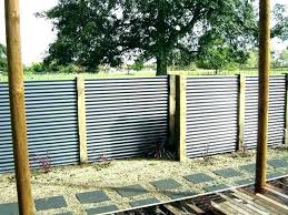 corrugated metal privacy fence cost panels s