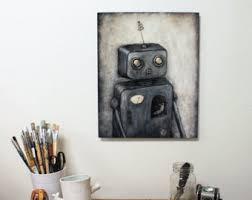 metal robot wall art