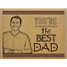 personalized gifts for father in law wooden engraved plank