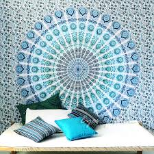 white boho mandala tapestry bohemian hippie wall hanging bedspread large queen