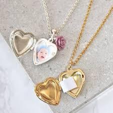 vintage heart locket necklaces with photos