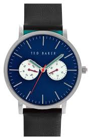 mens day date watch nordstrom men s ted baker london leather strap watch 40mm