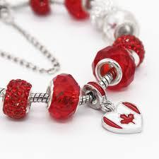 poshfeel canada flag charms charm bracelet women 925 silver beads bracelet famous diy jewelry mbr170305 in charm bracelets from jewelry accessories on