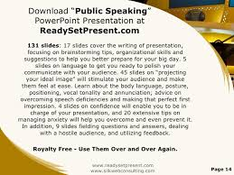 public speaking powerpoint presentation 14 ldquo public speaking rdquo