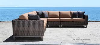 modern outdoor patio furniture. Columbia Sectional Wicker Modern Outdoor Patio Furniture Set