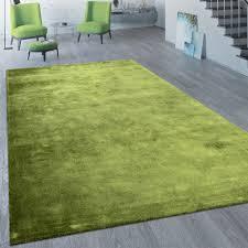 Kurzflor Teppich Unifarben Grün