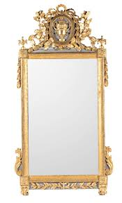 Large #LouisXVI #mirror in #carved and #gilded wood, last third of