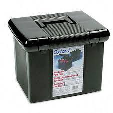 hanging file box. Portafile Black Letter Size Hanging File Box