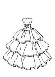 Barbie Wedding Dress Coloring Pages At Getdrawingscom Free For