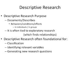 Purpose Of Descriptive Research Design Ppt Descriptive Research Powerpoint Presentation Free