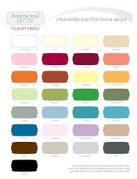 Americana Chalk Paint Color Chart Decoart Chalky Paint Inspiration Board Americana Chalk