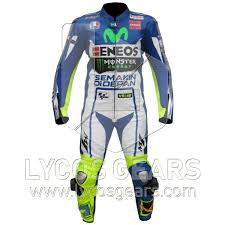 Valentino Rossi Yamaha Movistar 2015 Motorcycle Racing Leather Suit