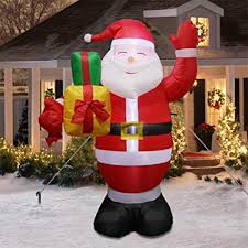 OurWarm 5ft <b>Christmas Inflatables Santa</b> Claus with <b>LED</b> Light, <b>Blow</b> ...