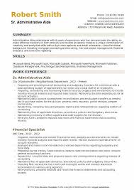 Resume Templates For Publisher Administrative Aide Resume Samples Qwikresume