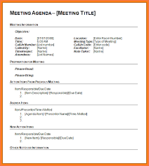 Meeting Templates Word agenda template word bio letter sample 75