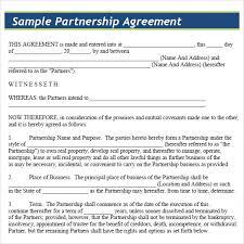 Sample Partnership Agreement Form Sample Partnership Agreement 15 Documents In Pdf Word