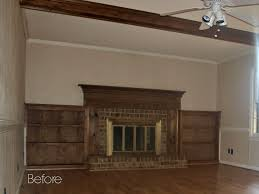 there was nothing actually wrong with the fireplace and bookcases in fact i really loved the detailing on the molding it was just a little dated looking