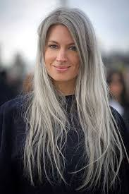 long gray fine hairstyle