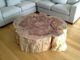 awesome tree stump coffee table home design intended for idea 6 tree stump coffee table h52