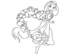 Small Picture Elegant Disney Princess Coloring Pages Rapunzel 15 For Free