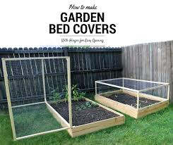 raised bed vegetable garden covers how to make a raised garden bed cover with hinges 5