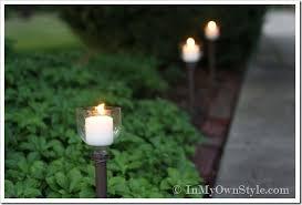 outdoor candle lighting. Plain Lighting DIY PlasticBottleCandle Holder With Outdoor Candle Lighting N