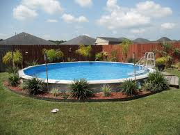 sunken above ground swimming pools. Simple Swimming How To Landscape An Above Ground Pool On Sunken Above Ground Swimming Pools O