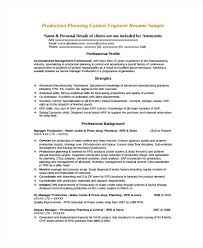 Production Planning And Control Resume Resume Associate Manager