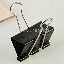 Paper Holder Clips Free Shipping 24pcs Pack 41mm Metal Paper Clip Black Binder Clip