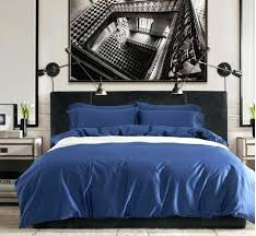 blue queen duvet covers egyptian cotton sheets solid cobalt blue bedding set king queen size quilt