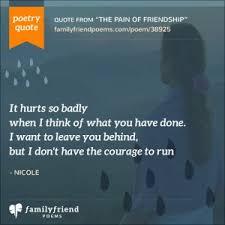 Broken Friendship Poems Poems About Broken Friendships