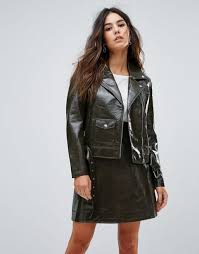 warehouse patent faux leather biker women khaki jackets warehouse leather jackets mountain warehouse jackets