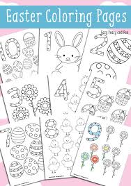Easter Counting Coloring Pages Easy Peasy And Fun
